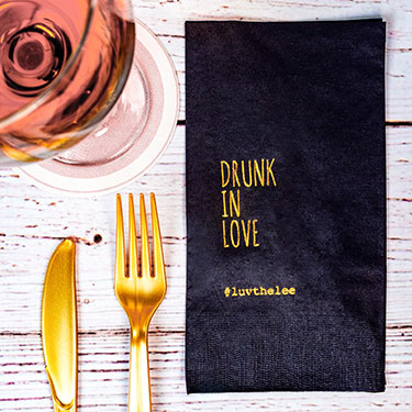 Custom Foil Stamped Dinner Napkins