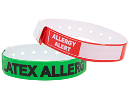 Custom Medical Alert Regular Vinyl Wristbands