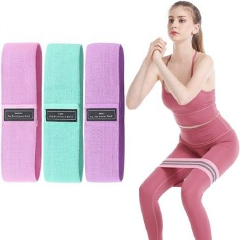 Custom Stretch Resistance Exercise Bands (Set of 3)