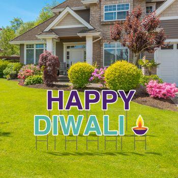Pre-Packaged Happy Diwali Yard Letters