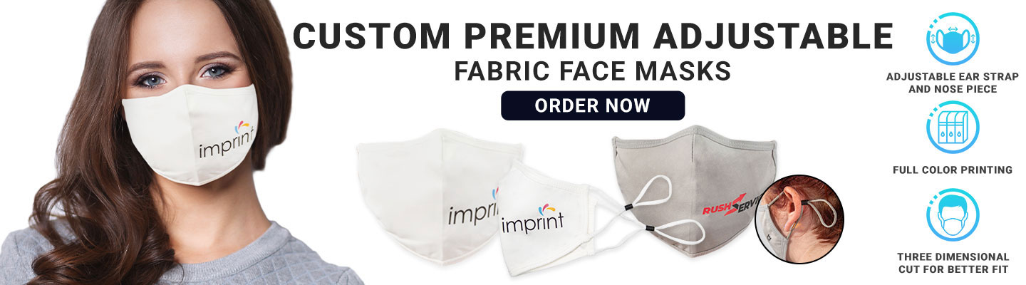 Custom Premium Adjustable Fabric Face Masks